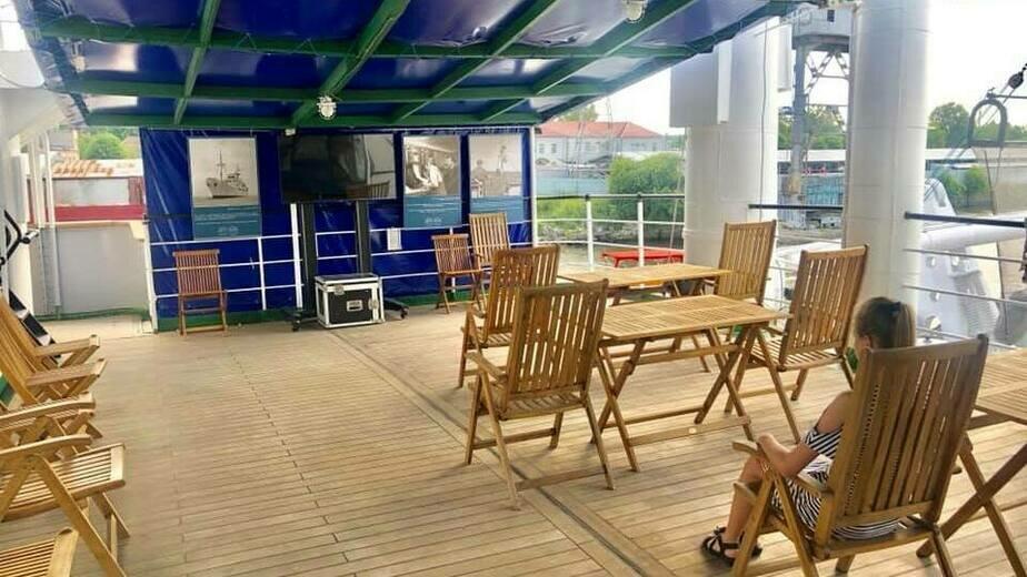 В Калининграде организовали кинотеатр на палубе корабля - Новости Калининграда | Фото: пресс-служба Музея Мирового океана