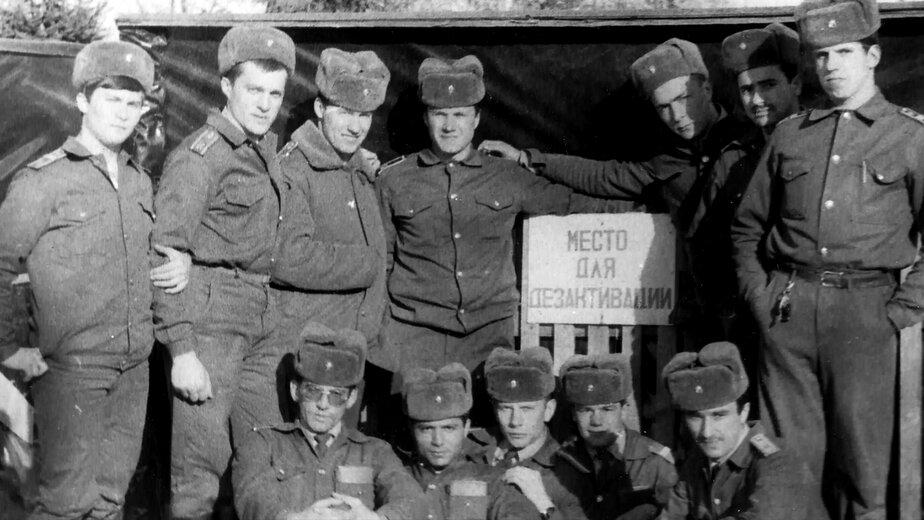 Курсанты Калининградской школы милиции в Чернобыле   Фото: Музей Калининградского филиала Санкт-Петербургского университета МВД России