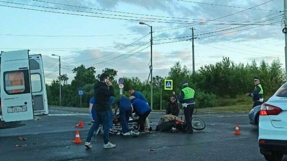 Попавший в ДТП на Емельянова скутерист был пьян и не имел водительских прав - Новости Калининграда | Фото: очевидец