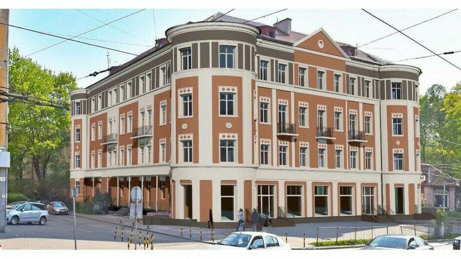 На проспекте Мира изменят фасад исторического здания (эскиз) - Новости Калининграда | Эскиз, который предлагает областной Фонд капитального ремонта