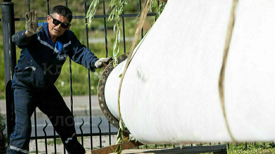 В Музее Мирового океана выставили лопасть демонтированного в Куликово ветряка (фото) - Новости Калининграда   Фото: Александр Подгорчук