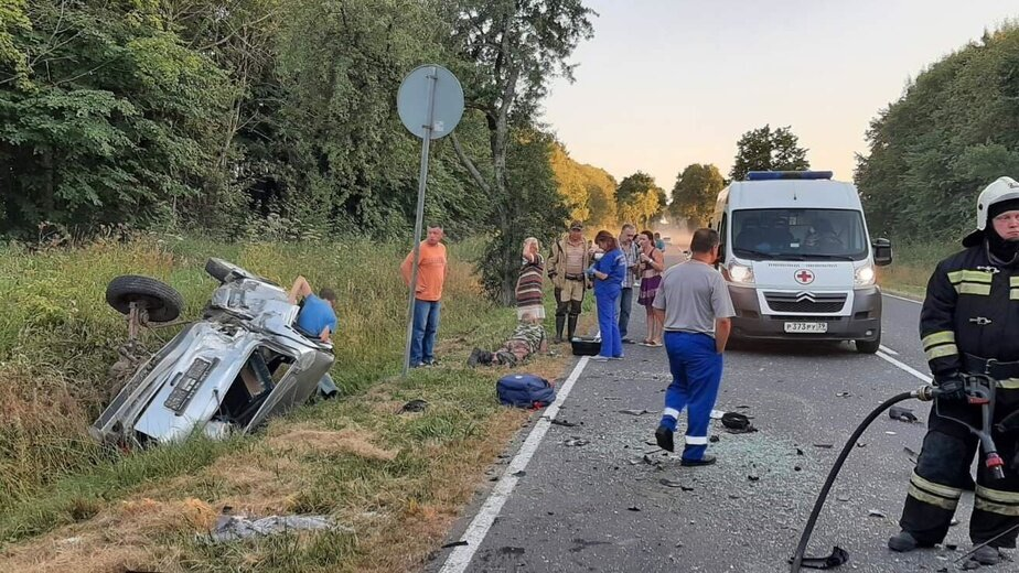В Багратионовском районе столкнулись три автомобиля, есть пострадавшие - Новости Калининграда   Фото: ГУ МЧС по Калининградской области