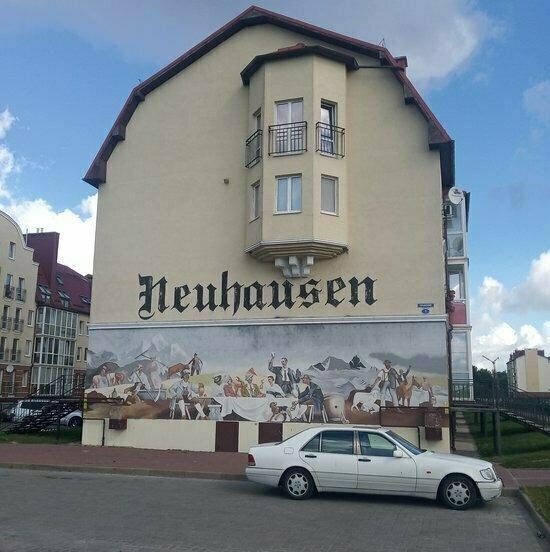 В Гурьевске предприниматель намерен судиться, чтобы сохранить надпись Neuhausen на стене дома - Новости Калининграда | Фото: Елена Сигитова