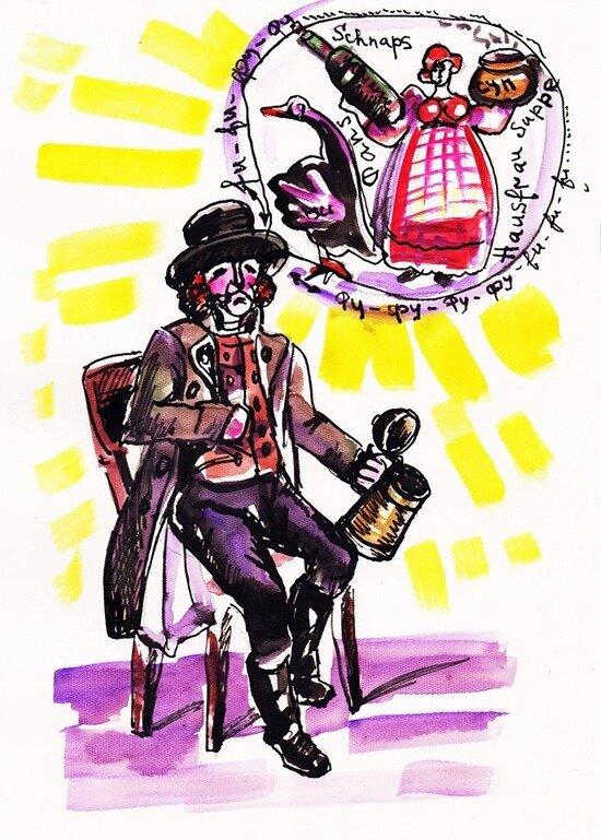 Если бы суп был таким же тёплым…    Карикатура Елены Ананьиной