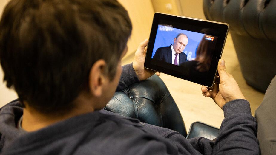 """В этом году традиционная прямая линия с Путиным не состоится - Новости Калининграда   Фото: архив """"Клопс"""""""