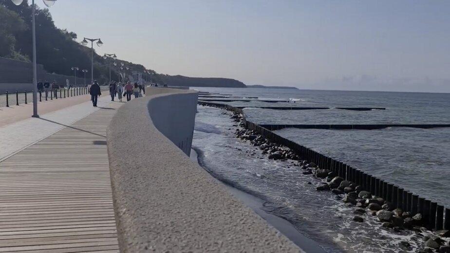 Черномаз рассказал, когда у променада в Светлогорске появится пляж - Новости Калининграда | Изображение: кадр из видео