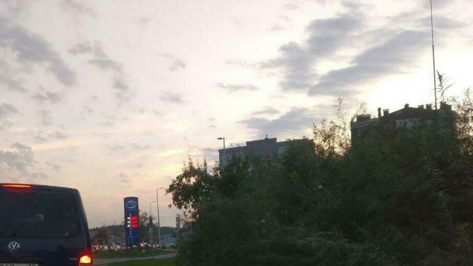 Зеленоградск вечером в среду встал в пробке - Новости Калининграда   Фото очевидца