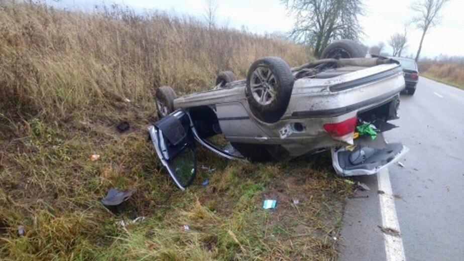 В Озёрском районе BMW объезжал выскочившую на дорогу лису и перевернулся, пострадал двухлетний мальчик - Новости Калининграда | Фото: пресс-служба регионального УМВД