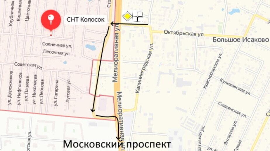 На Окружной Калининграда изменили схему движения в районе Исакова - Новости Калининграда