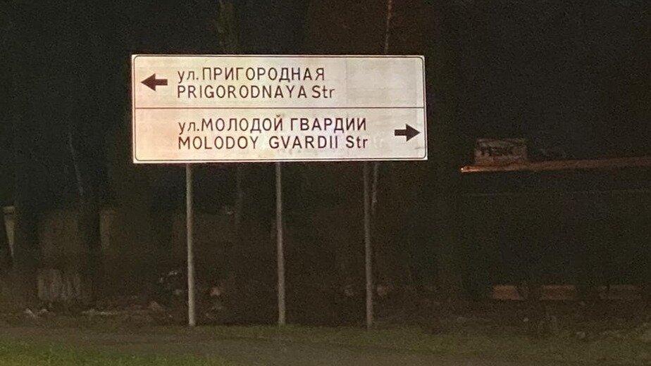 В написании улиц на указателях вдоль Восточной эстакады три раза находили ошибки - Новости Калининграда | Фото: министерство развития инфраструктуры