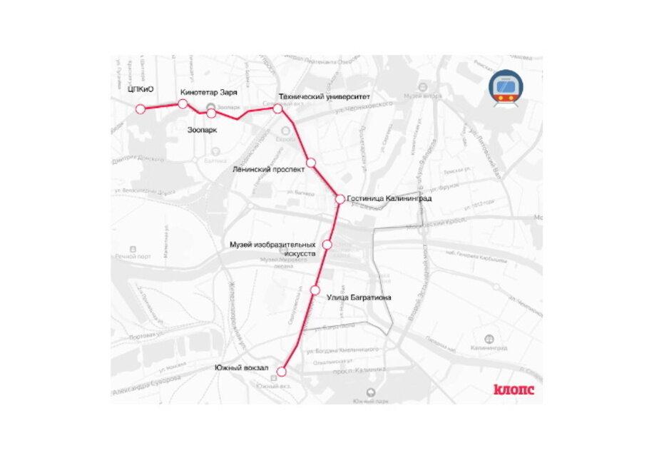 Мэрия определила номер второго трамвайного маршрута и схему движения - Новости Калининграда