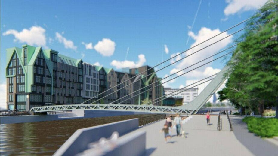 В Калининграде не нашли подрядчика для строительства пешеходного моста на остров Канта - Новости Калининграда | Изображение: конкурсная документация