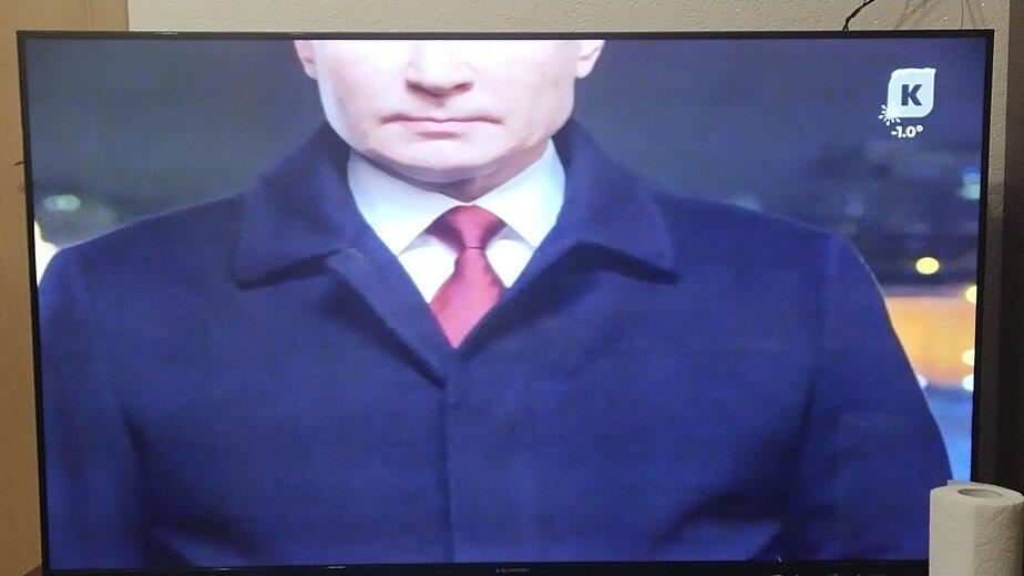 Калининградский телеканал объяснил обрезанное новогоднее обращение Путина - Новости Калининграда | Фото очевидца