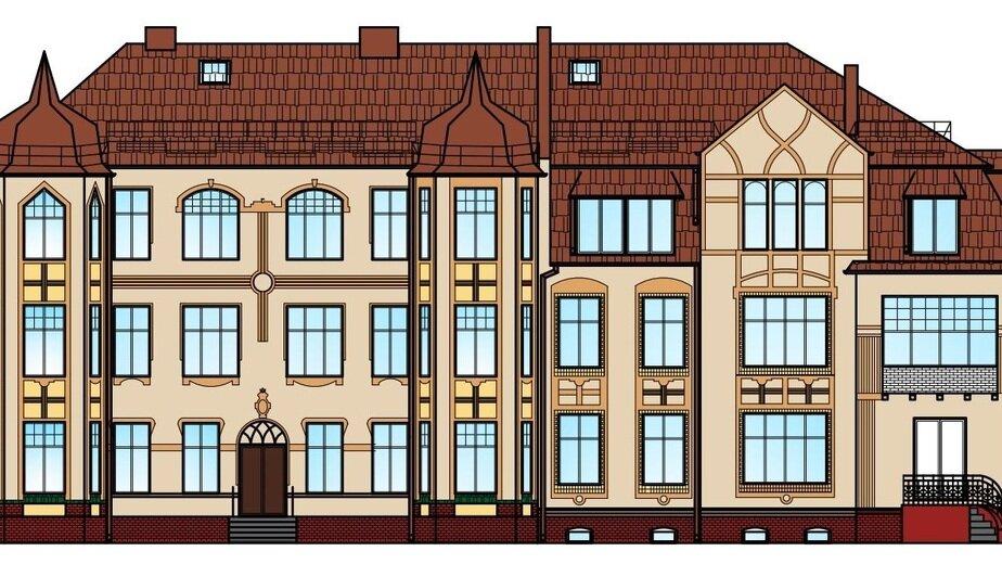 Так будет выглядеть здание после ремонта — эскиз | Фото: администрация Зеленоградского городского округа