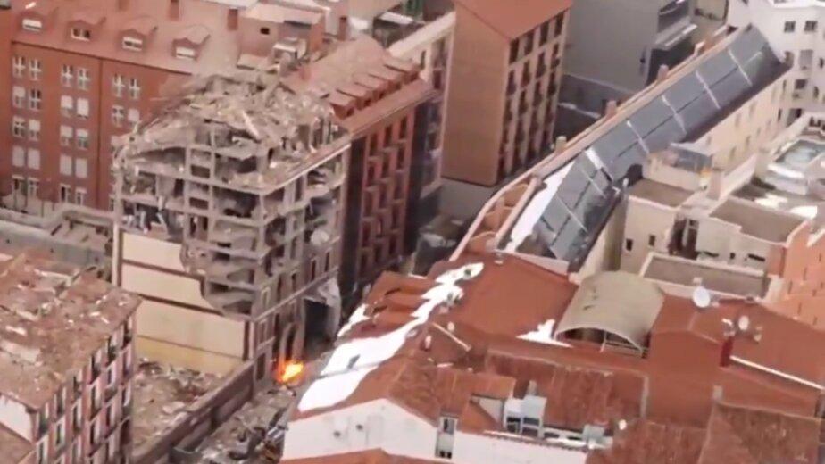В центре Мадрида взорвался жилой дом, есть погибшие (видео) - Новости Калининграда   Изображение: кадр из видео