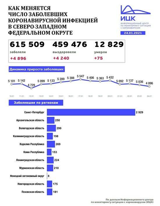 В Калининградской области выявили 198 случаев COVID-19 за сутки - Новости Калининграда   Изображение: Информационный центр по мониторингу ситуации с коронавирусом