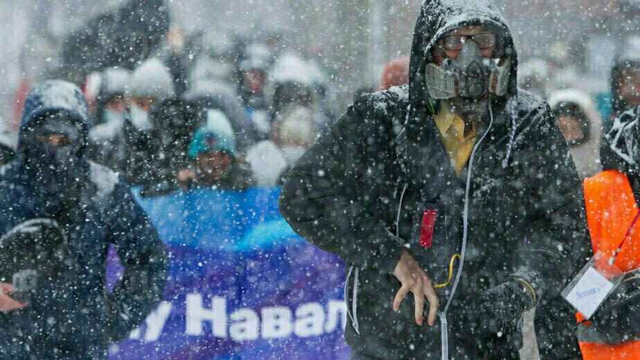 Несогласованная акция в поддержку Навального в Калининграде - Новости Калининграда | Фото: Александр Подгорчук