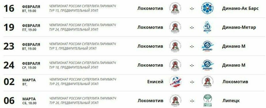 Календарь матчей