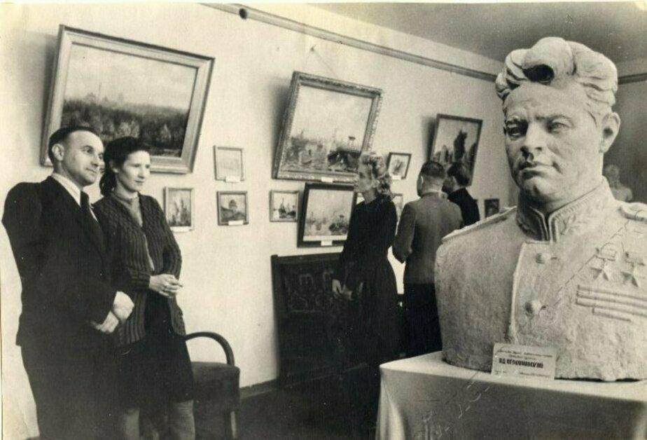1949 год, первая выставка Калининградских художников   Фото: Калининградский историко-художественный музей