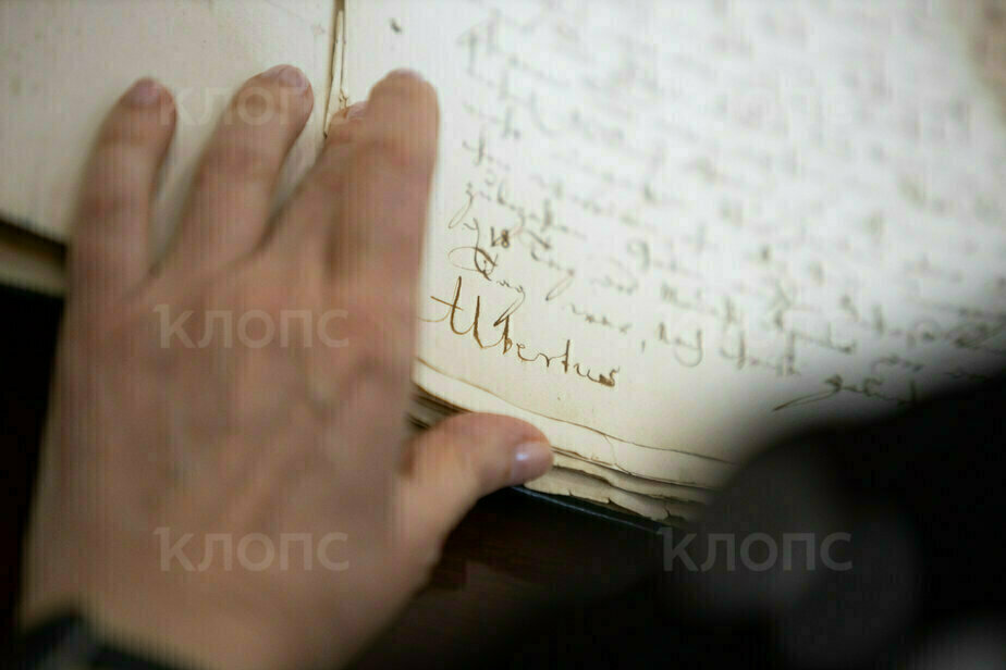 """Альбертус"" — подпись герцога   Фото: Александр Подгорчук / ""Клопс"""