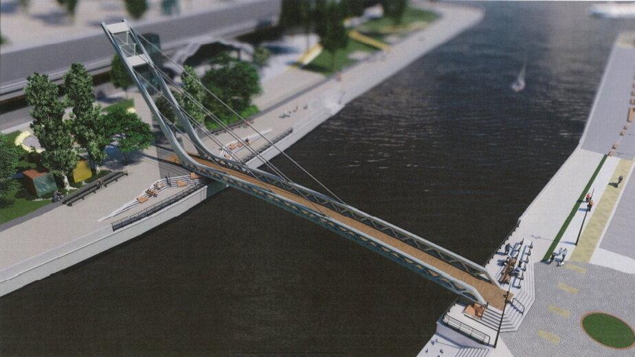 Пешеходный мост на остров Канта построит компания из Санкт-Петербурга - Новости Калининграда | Изображение: конкурсная документация