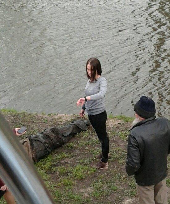 Мария Булова на месте происшествия | Фото: Альбина Богданова