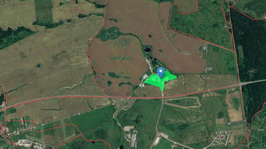 В Гусевском районе разрешили построить новый завод - Новости Калининграда | Скриншот кадастровой карты