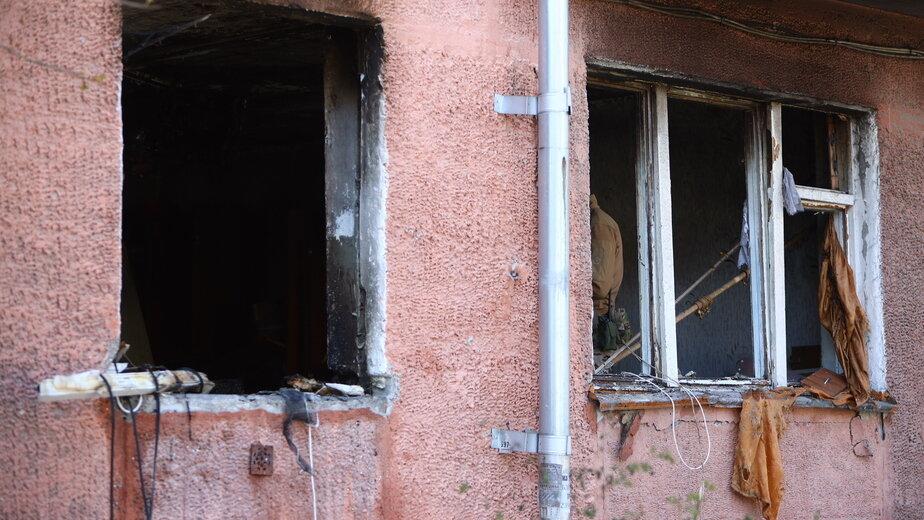 Квартира на Леонова после взрыва и пожара | Фото: Александр Подгорчук /«Клопс»