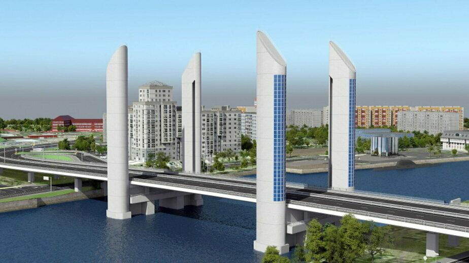 Работы в три этапа: как будут строить шестиполосный дублёр двухъярусного моста в Калининграде - Новости Калининграда   Эскиз предоставила администрация Калининграда