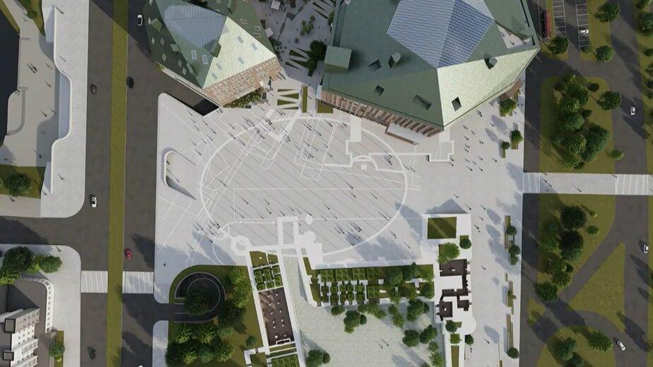 на фото: главная площадь на месте Дома Советов   Эскизы — «Студии 44»
