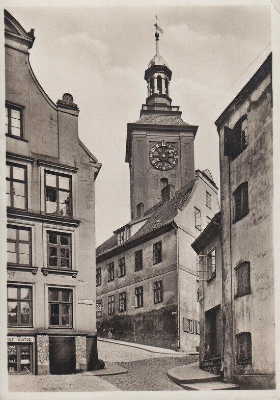Лёбенихтская церковь Святой Барбары на горе  | Фотография на открытке 1930 года