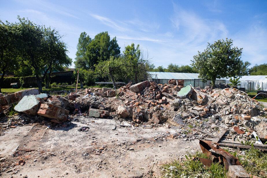 Всё что осталось от дома Карпухиных   Фото: Александр Подгорчук / «Клопс»