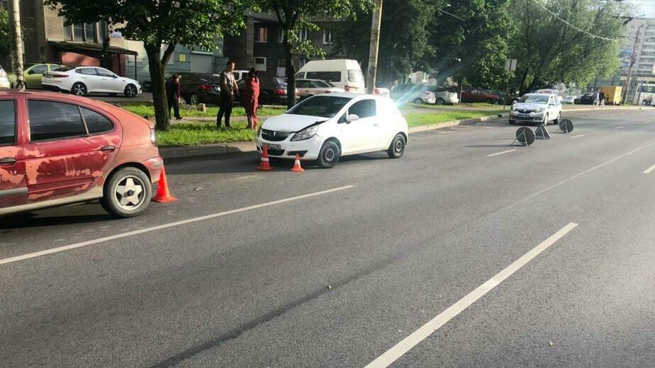 На Моспроспекте 35-летняя пассажирка Renault пострадала при столкновении с Opel (фото) - Новости Калининграда   Фото: пресс-служба УМВД России по Калининградской области