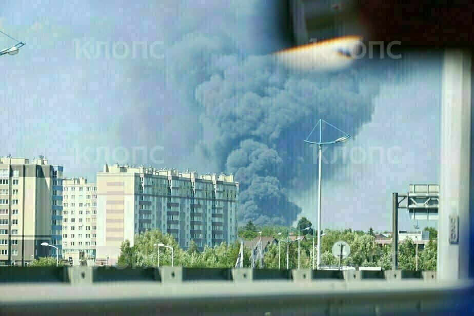 Пожар на территории «Мираторга» - Новости Калининграда | Фото: Александр Подгорчук / «Клопс»