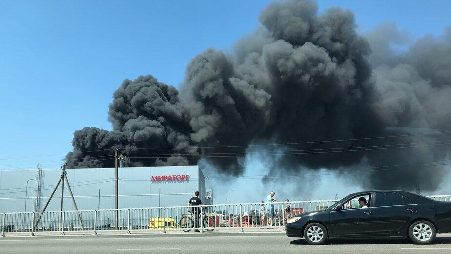 В МЧС рассказали о пожаре на «Мираторге» в Калининграде - Новости Калининграда | Фото очевидца