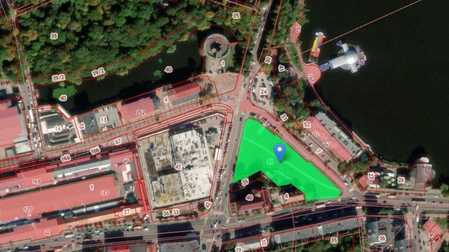 В центре Калининграда разрешили построить ещё один ТЦ - Новости Калининграда   Скриншот кадастровой карты