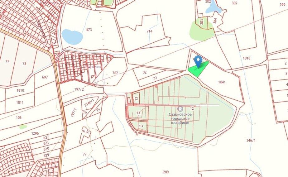 Власти выдали разрешение на строительство первого крематория в Калининградской области - Новости Калининграда | Скриншот кадастровой карты