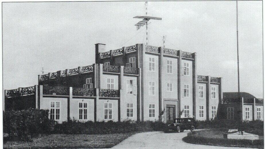 Здание Кёнигсбергского аэровокзала в Девау, построенное архитектором Гансом Хоппом в 1922 году