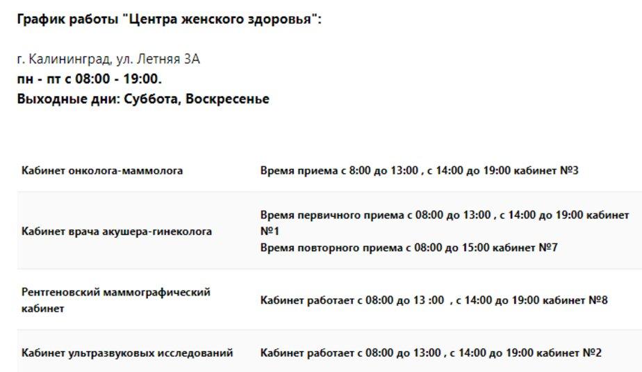 Где в Калининграде и области обследоваться бесплатно на женские виды рака - Новости Калининграда   Изображение: скриншот сайта