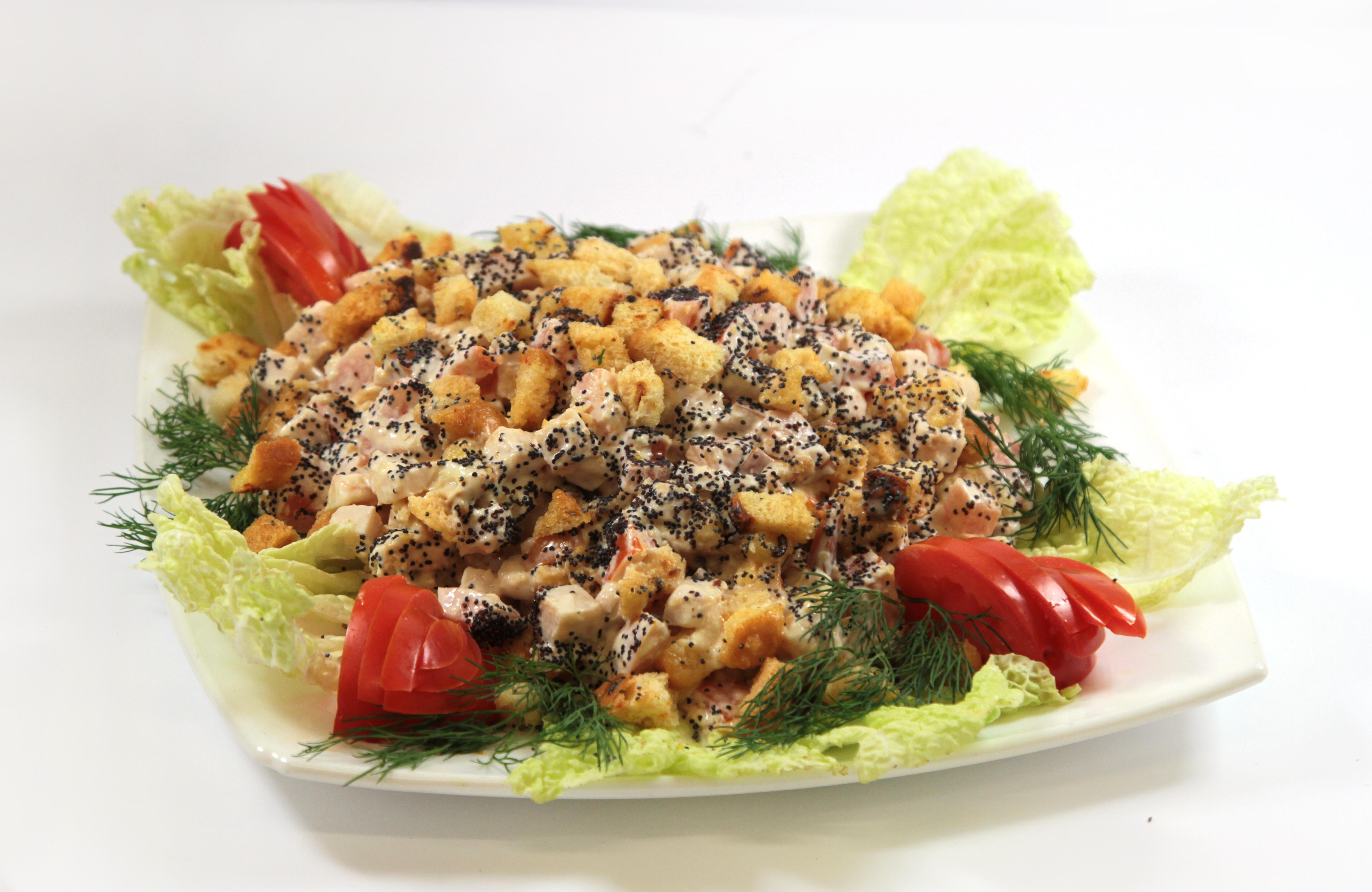 Салат с копченой грудкой и грибами рецепт