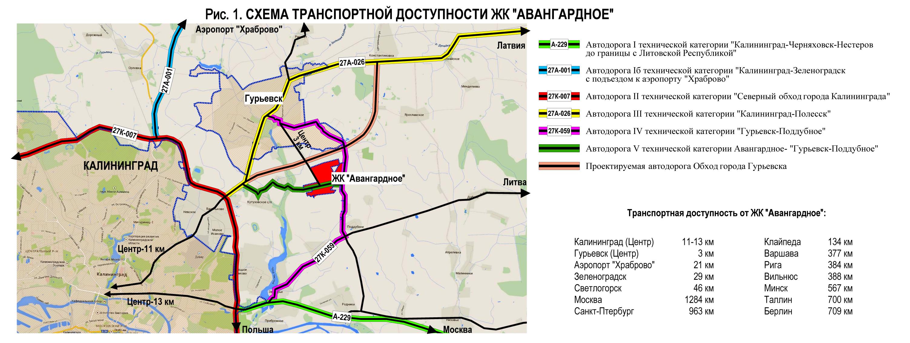 калининград транспортная схема
