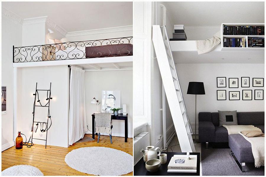 Как сделать спальню под потолком 475